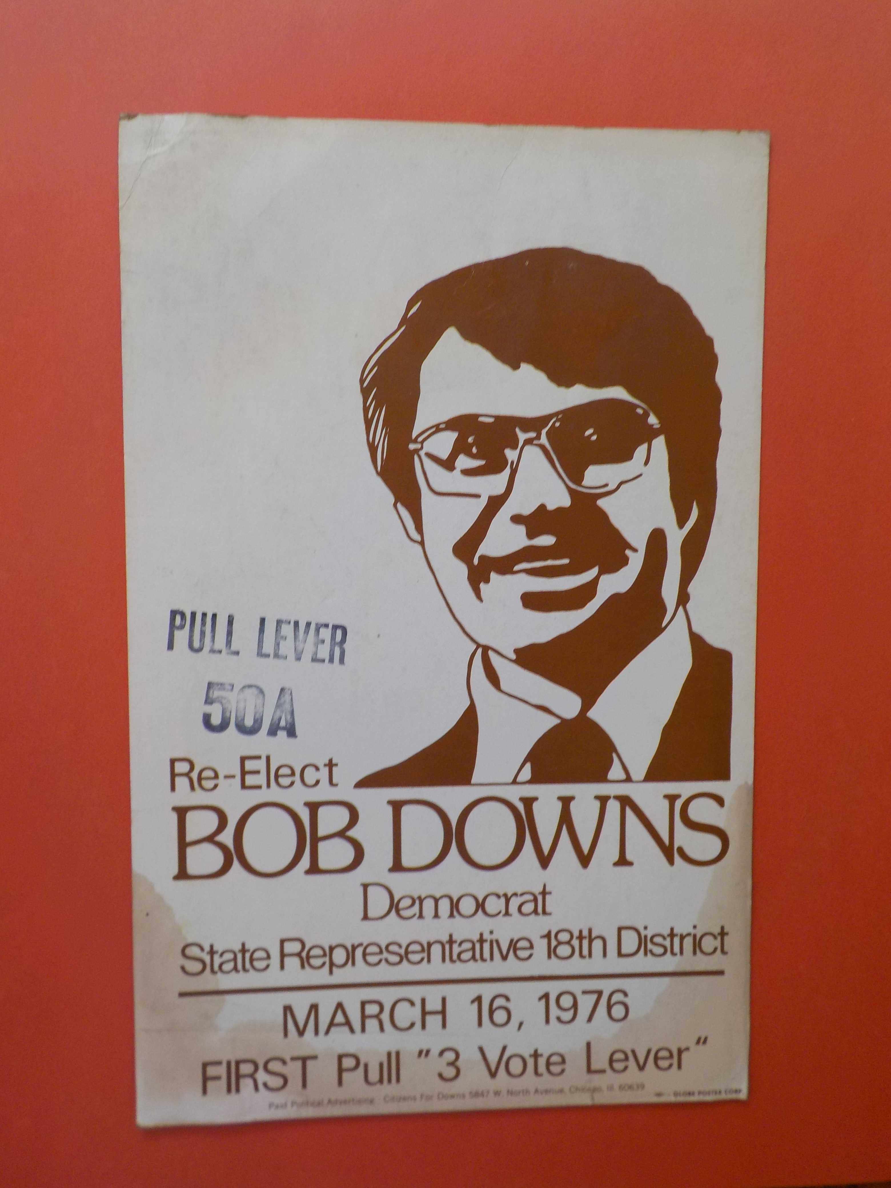 Bob Downs yard sign