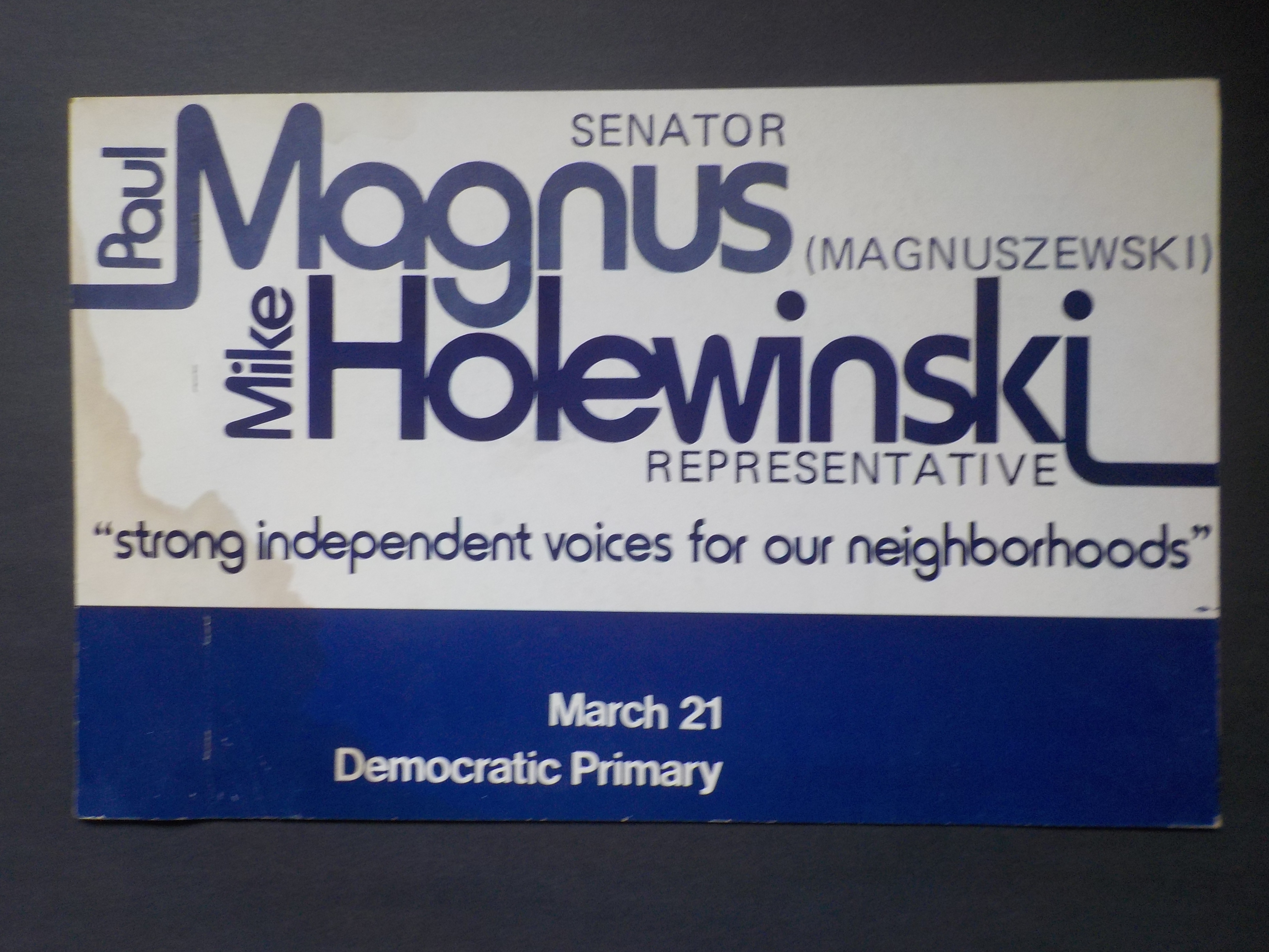 Holewinski yard sign